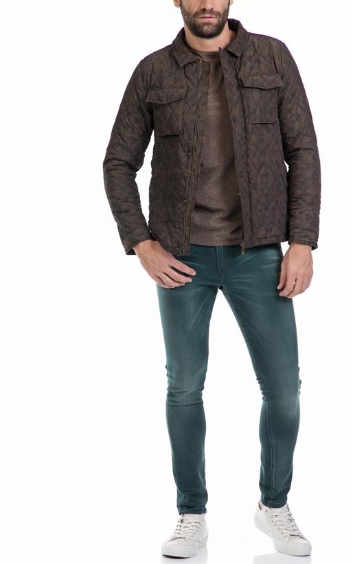 SCOTCH & SODA-Ανδρικό μπουφάν Lightweight quilted shirt jack καφέ