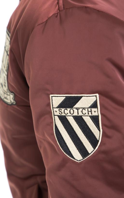 SCOTCH & SODA-Ανδρικό μπουφάν SCOTCH & SODA μπορντώ