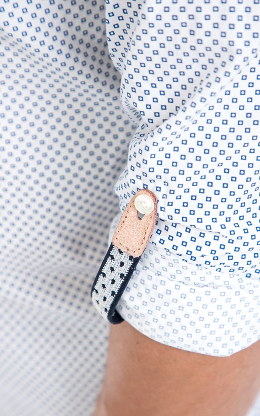 SCOTCH & SODA-Ανδρικό πουκάμισο SCOTCH & SODA λευκό- μπλε
