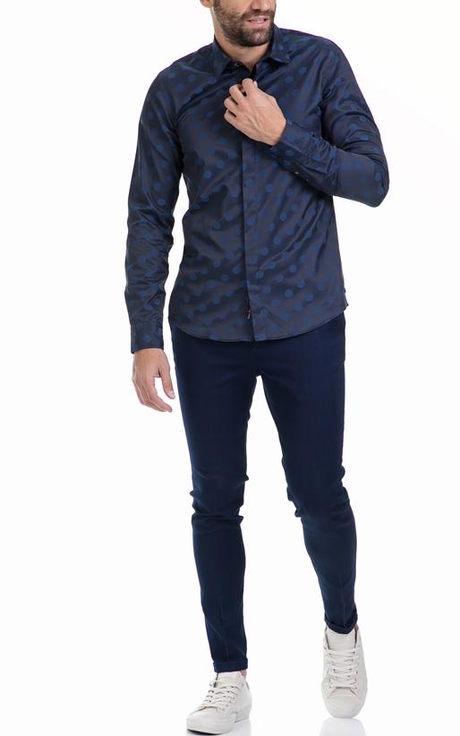 SCOTCH & SODA-Αντρικό πουκάμισο SCOTCH & SODA μπλε
