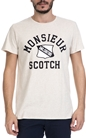 SCOTCH & SODA-Ανδρικό T-shirt SCOTCH & SODA εκρού