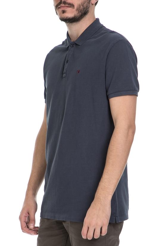 SCOTCH & SODA-Ανδρική πόλο μπλούζα SCOTCH & SODA μπλε