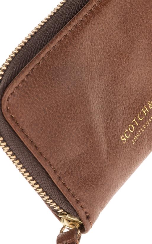 SCOTCH & SODA-Ανδρικό πορτοφόλι SCOTCH & SODA καφέ