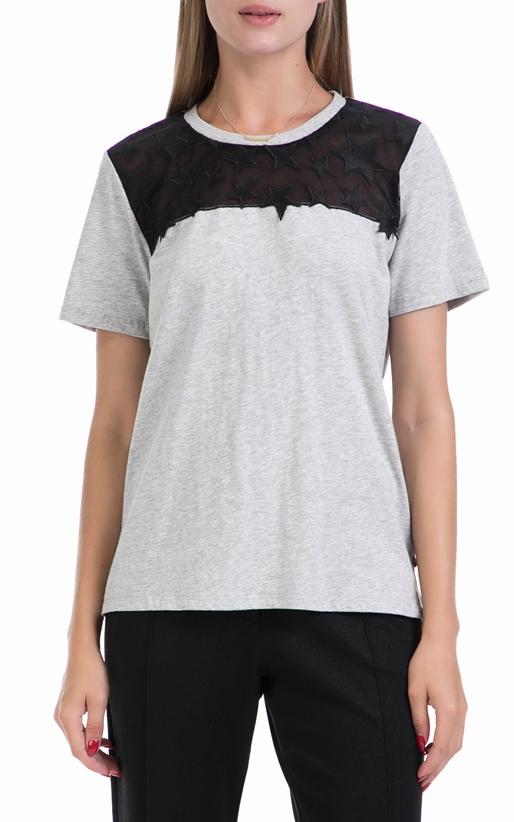 SCOTCH & SODA-Γυναικεία μπλούζα MAISON SCOTCH γκρι