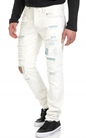 SCOTCH & SODA-Ανδρικό τζιν παντελόνι SCOTCH & SODA λευκό