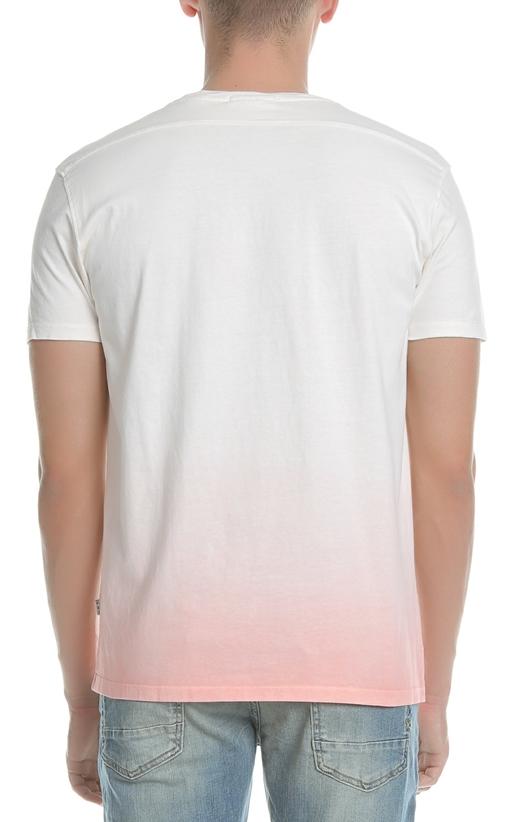 SCOTCH & SODA-Ανδρικό T-shirt SCOTCH & SODA ροζ-λευκό