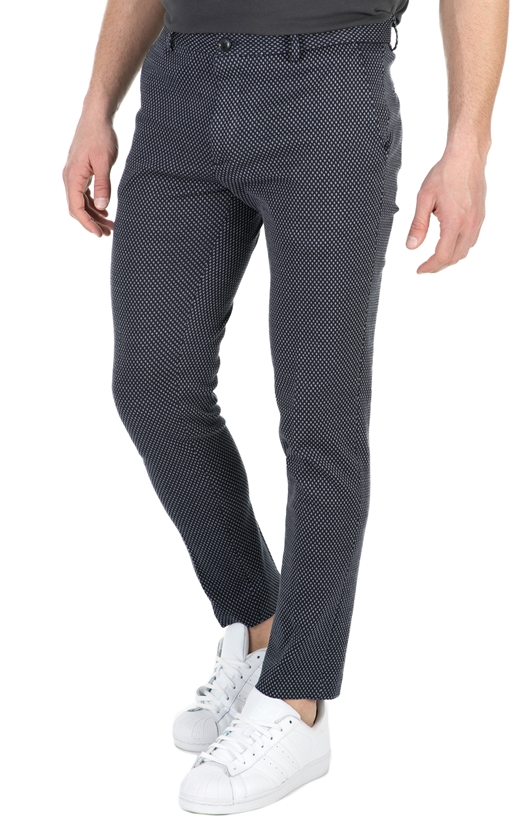 SCOTCH & SODA-Ανδρικό παντελόνι Mott SCOTCH & SODA μαύρο-γκρι