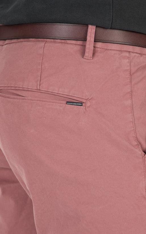 SCOTCH & SODA-Ανδρικό παντελόνι SCOTCH & SODA ροζ