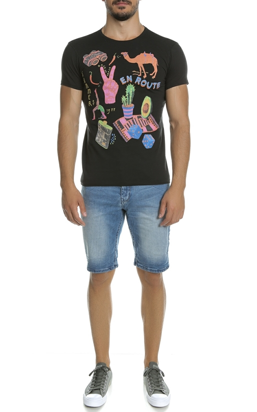 SCOTCH & SODA-Ανδρικό T-shirt SCOTCH & SODA μαύρο