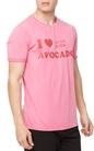 SCOTCH & SODA-Ανδρικό t-shirt Scotch & Soda Sun-bleached ροζ