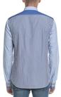 SCOTCH & SODA-Ανδρικό πουκάμισο Scotch & Soda ριγέ μπλε
