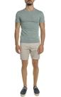 SCOTCH & SODA-Ανδρικό T-shirt Garment-dyed SCOTCH & SODA λαδί