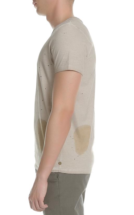 SCOTCH & SODA-Ανδρική κοντομάνικη μπλούζα Scotch & Soda καφέ