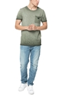 SCOTCH & SODA-Ανδρικό t-shirt  Scotch & Soda Oil-washed tee χακί