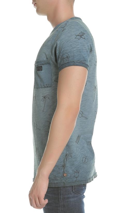 SCOTCH & SODA-Ανδρικό T-shirt Oil-washed tee SCOTCH & SODA μπλε