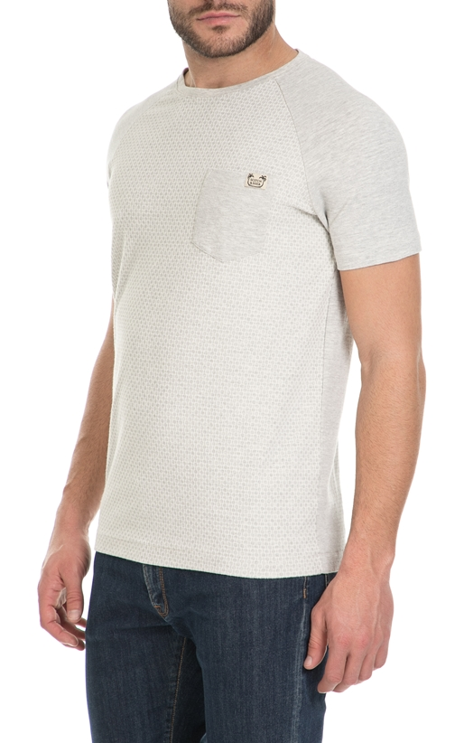 SCOTCH & SODA-Ανδρικό T-shirt Tonal mix & match SCOTCH & SODA γκρι