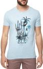 SCOTCH & SODA-Ανδρική κοντομάνικη μπλούζα SCOTCH & SODA γαλάζια με στάμπα