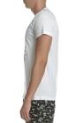 SCOTCH & SODA-Ανδρική κοντομάνικη μπλούζα SCOTCH & SODA εκρού με στάμπα