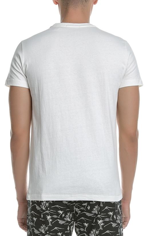 SCOTCH   SODA-Ανδρική κοντομάνικη μπλούζα SCOTCH   SODA εκρού με στάμπα 4f11fdb5664