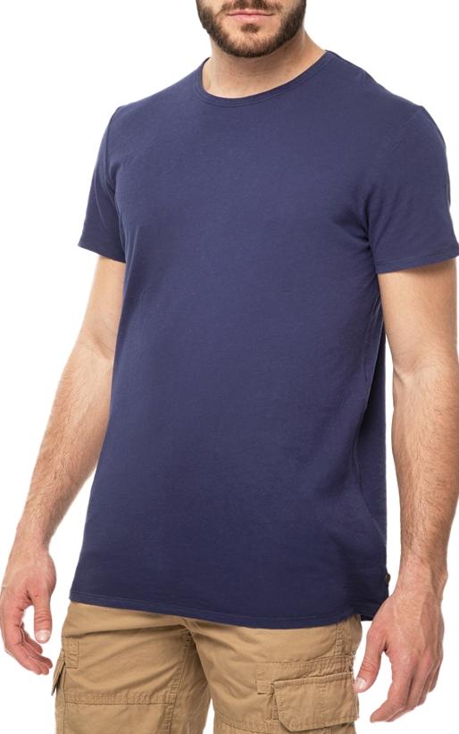 SCOTCH & SODA-Ανδρική κοντομάνικη μπλούζα SCOTCH & SODA μπλε