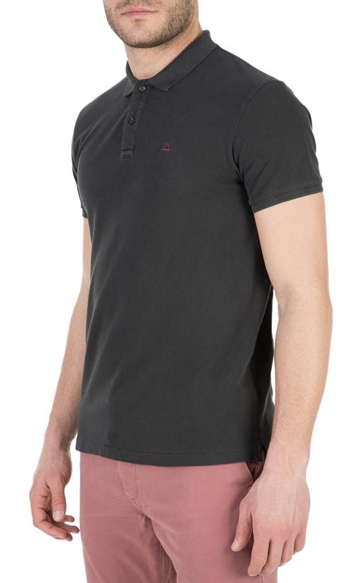 SCOTCH & SODA-Ανδρική πόλο μπλούζα SCOTCH & SODA μαύρη