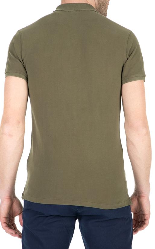 SCOTCH & SODA-Ανδρική πόλο μπλούζα SCOTCH & SODA χακί