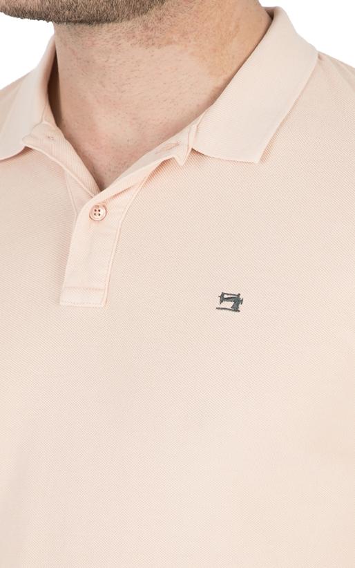 SCOTCH & SODA-Ανδρική κοντομάνικη μπλούζα polo Scotch & Soda ροζ