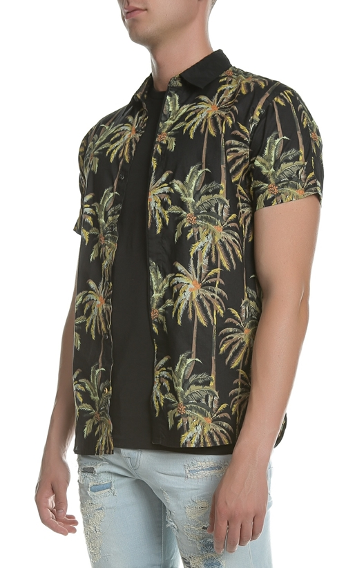SCOTCH & SODA-Ανδρικό κοντομάνικο πουκάμισο Scotch & Soda μαύρο
