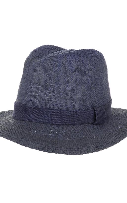 SCOTCH & SODA-Ανδρικό ψάθινο καπέλο SCOTCH & SODA μπλε