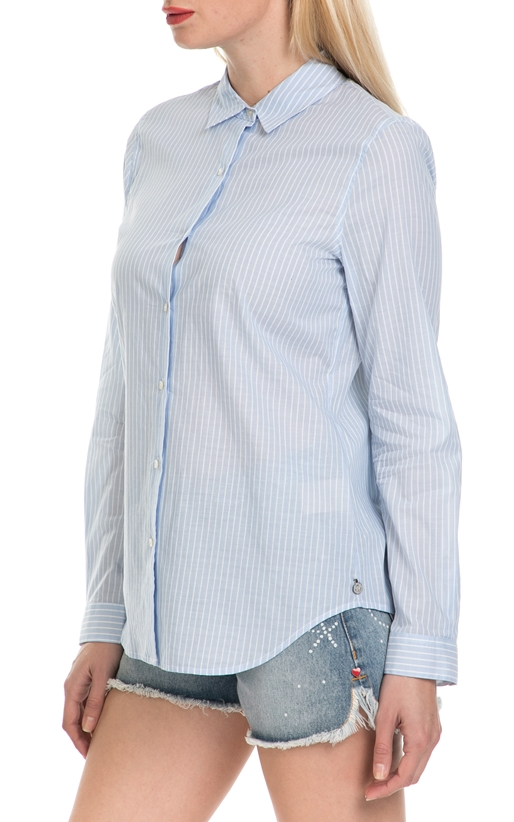 SCOTCH & SODA-Γυναικείο πουκάμισο SCOTCH & SODA μπλε-λευκό