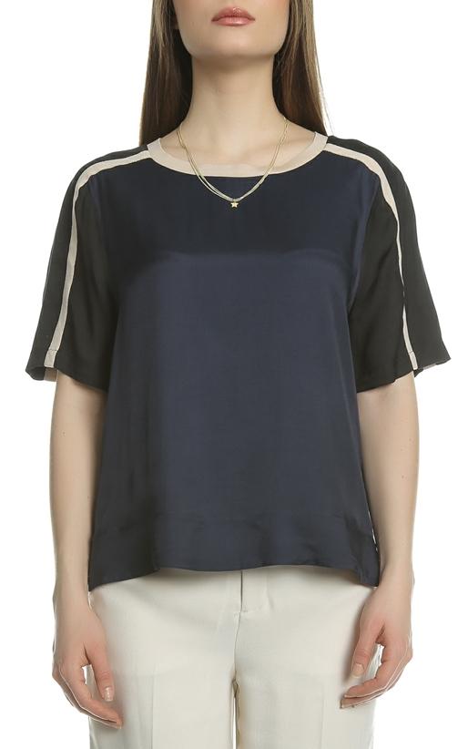 SCOTCH & SODA-Γυναικεία μπλούζα SCOTCH & SODA μαύρη-λευκή
