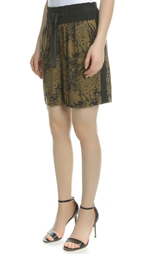 SCOTCH & SODA- Γυναικεία φλοράλ βερμούδα SCOTCH & SODA μαύρη - λαδί