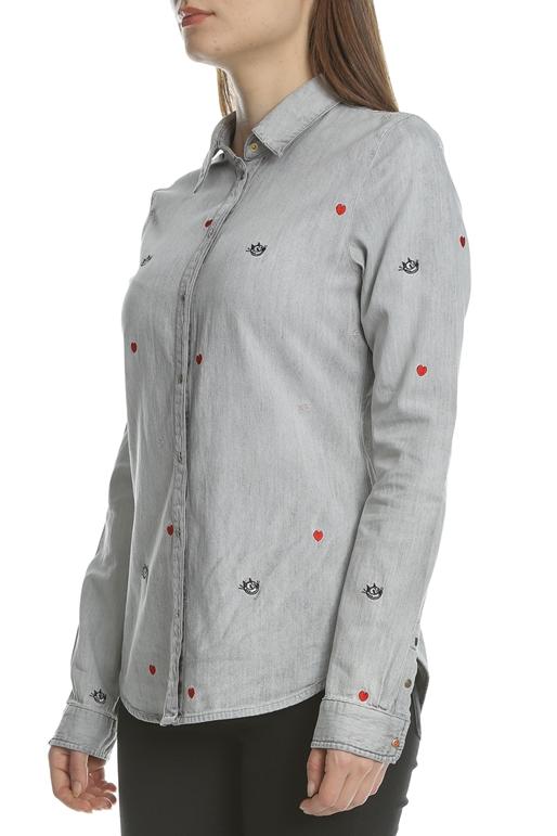 b0429663f2a2 SCOTCH   SODA-Γυναικείο μακρυμάνικο τζιν πουκάμισο SCOTCH   SODA Blauw  Felix γκρι