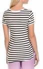 SCOTCH & SODA-Γυναικεία κοντομάνικη ριγέ μπλούζα SCOTCH & SODA άσπρη - μαύρη