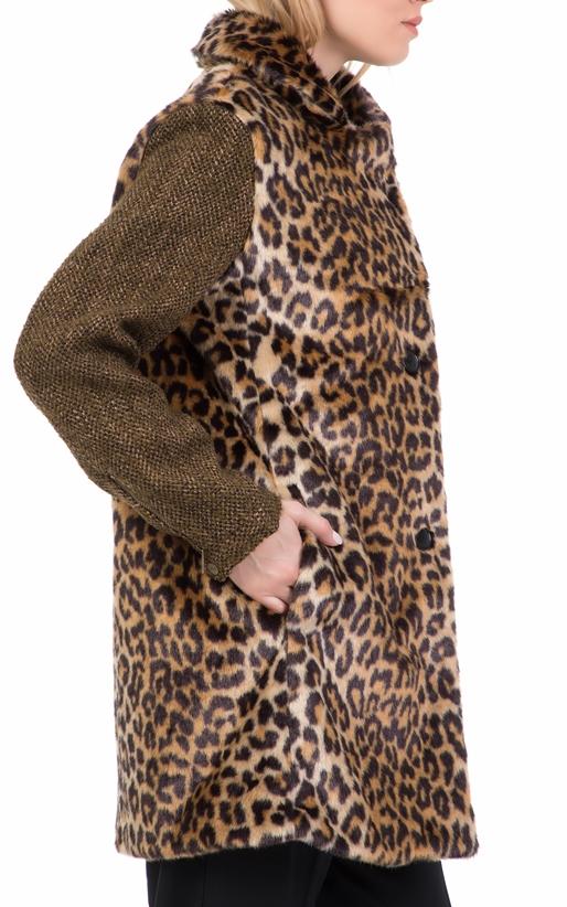 SCOTCH   SODA-Γυναικείο γούνινο παλτό SCOTCH   SODA λεοπάρ 3e8aab6c988