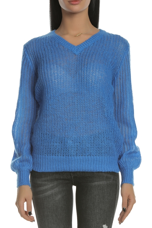 5cd1cd2a2d18 SCOTCH   SODA-Γυναικείο πουλόβερ SCOTCH   SODA fluffy v-neck μπλε