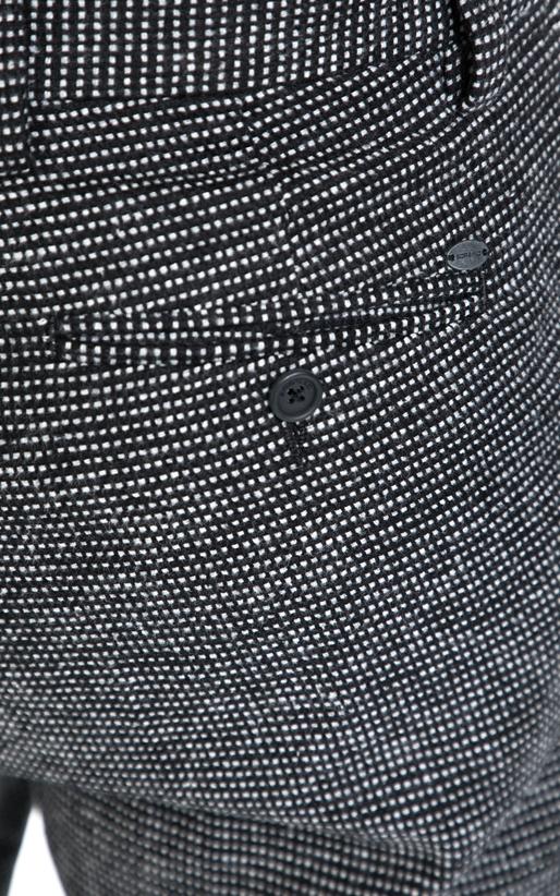 SORBINO-Αντρικό παντελόνι  AMERICA SORBINO άσπρο-μαύρο