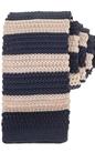 SSEINSE-Ανδρική πλεκτή γραβάτα Sseinse μπλε - μπεζ