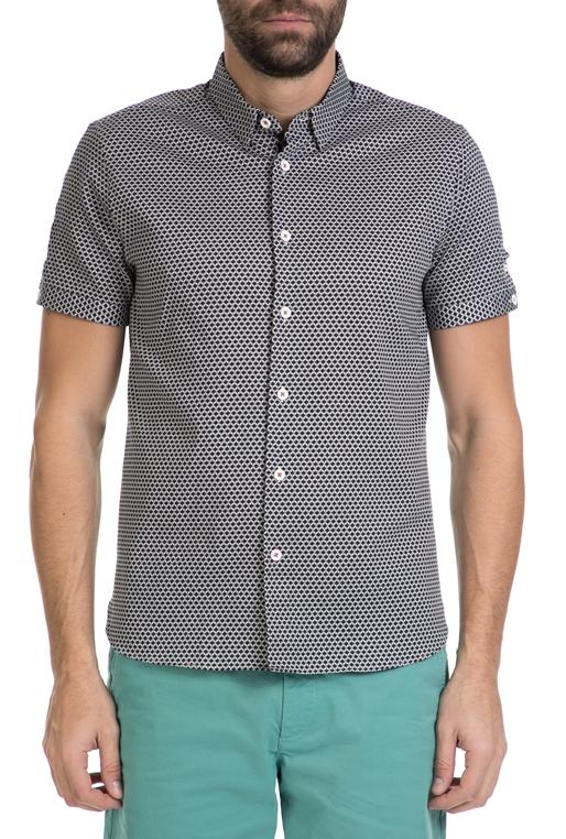 8275563b2dee Ανδρικό κοντομάνικο πουκάμισο TED BAKER μαύρο μοτίβο (1612248 ...