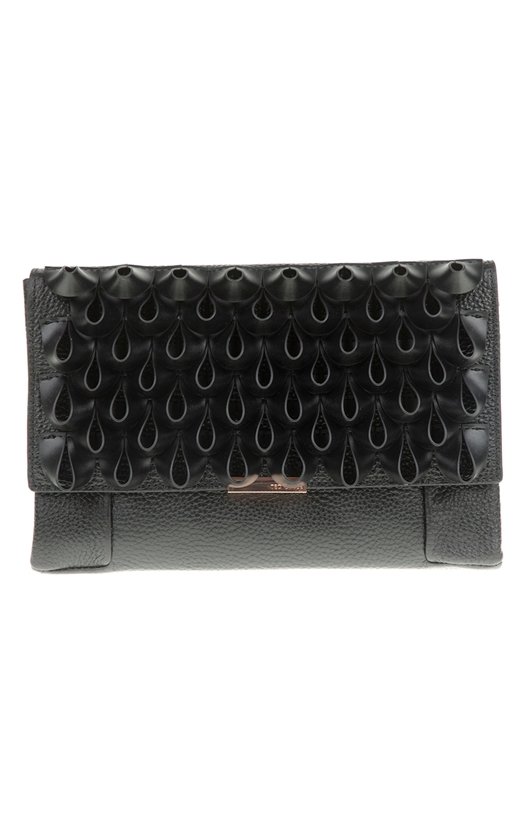 Γυναικεία τσάντα χιαστί LILIIA LOOP FRILL TED BAKER μαύρη (1629665 ... 19806025f23