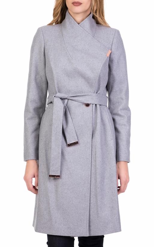 Γυναικείο μακρύ παλτό TED BAKER SANDRA γκρι (1713643)  70f942983c5