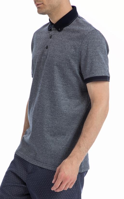 TED BAKER-Ανδρική πόλο μπλούζα TED BAKER γκρι