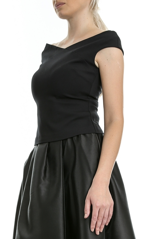 TED BAKER-Γυναικείο top TED BAKER TEIMAH BARDOT TOP μαύρο