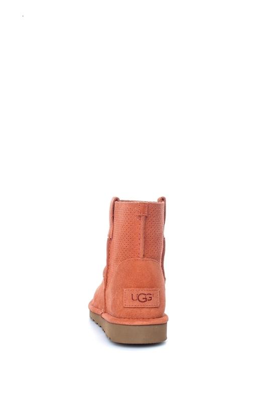 UGG-Γυναικεία μποτάκια Classic Unlined Mini Perf κοραλί-πορτοκαλί