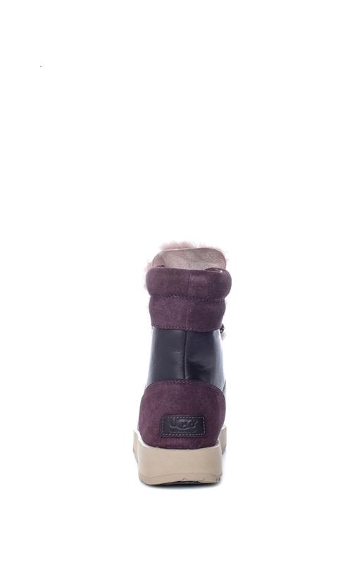 UGG-Γυναικεία μποτάκια W VIKI WATERPROOF UGG AUSTRALIA μαύρα-μοβ