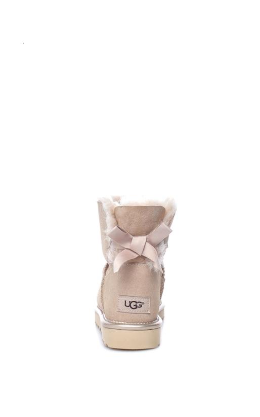 UGG-Γυναικεία μποτάκια MINI BAILEY BOW II METALLIC μπεζ