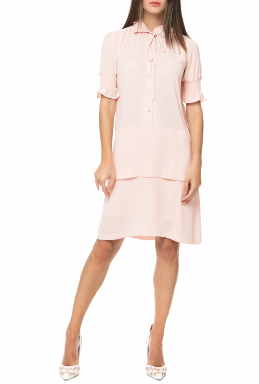 ff52b0516007 YVONNE BOSNJAK-Γυναικείο μίντι φόρεμα YVONNE BOSNJAK μπεζ