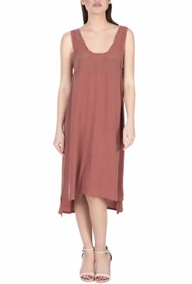 AMERICAN VINTAGE-Μίντι φόρεμα AZA148E18 κεραμμυδί