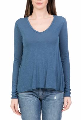 0529bd1e1b8c AMERICAN VINTAGE-Γυναικεία μακρυμάνικη μπλούζα AMERICAN VINTAGE γαλάζια
