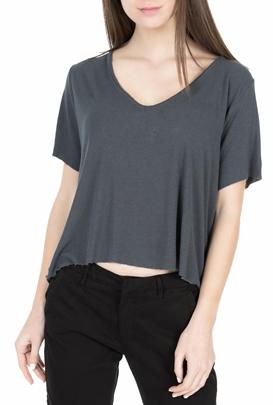 AMERICAN VINTAGE-Γυναικεία κοντομάνικη μπλούζα MALI20E18 ανθρακί